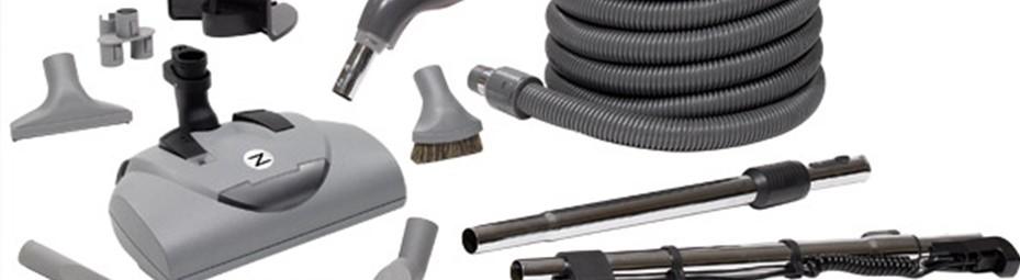 Accessoires d'aspirateur central, brosses, boyaux, manchons,, pour aspirateur de toute marque, à Québec